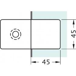 Mocowanie do szkła GC-180-B1 / Gold